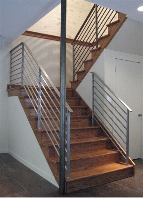 metal banister rail handmade rudess stair railing by eric david laxman
