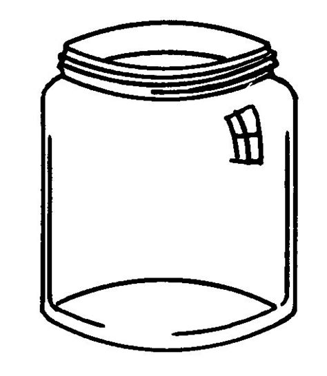 coloring page jar empty jar coloring page crafts and activities for