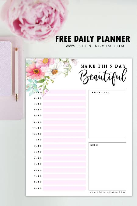 printable day planner sanjonmotel free printable daily planner beautiful pages