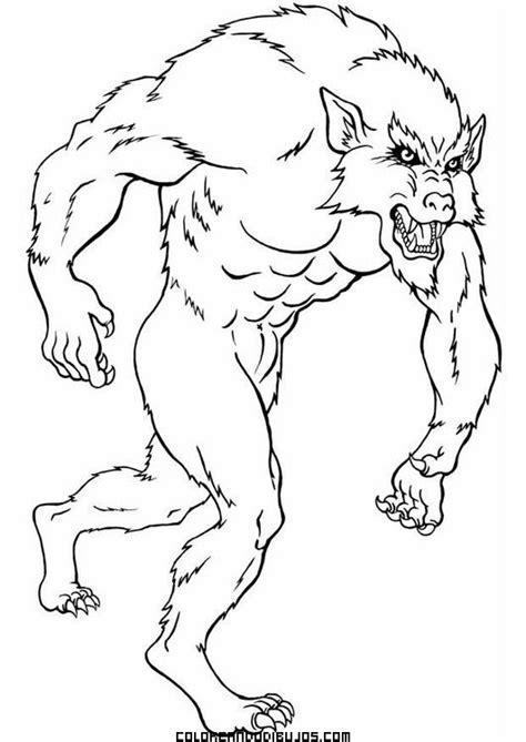 imagenes de hombres fuertes para colorear hombre lobo para colorear