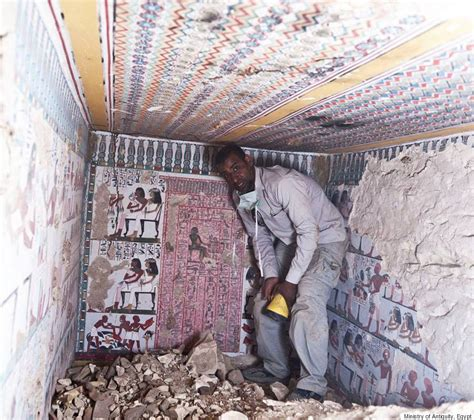 Egyptian Wall Murals ancient egyptian tombs with eye popping murals discovered