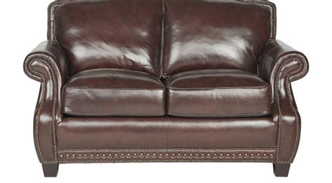 chocolate brown loveseat 1 179 99 frankford chocolate brown leather loveseat