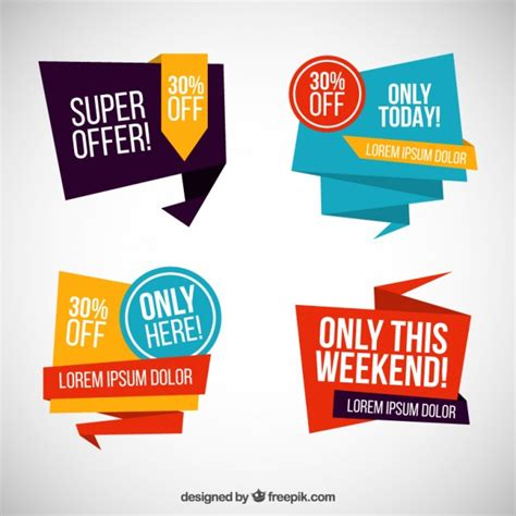 design banner sle origami sale banners vector free download