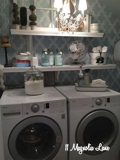 How To Decorate Laundry Room Blue White Laundry Room Chandelier Home Garden Pinterest