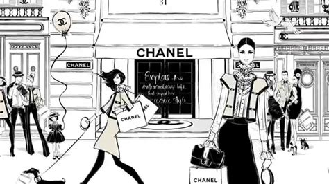 Tiny House Prints by Coco Chanel The Illustrated World Of A Fashion Icon By