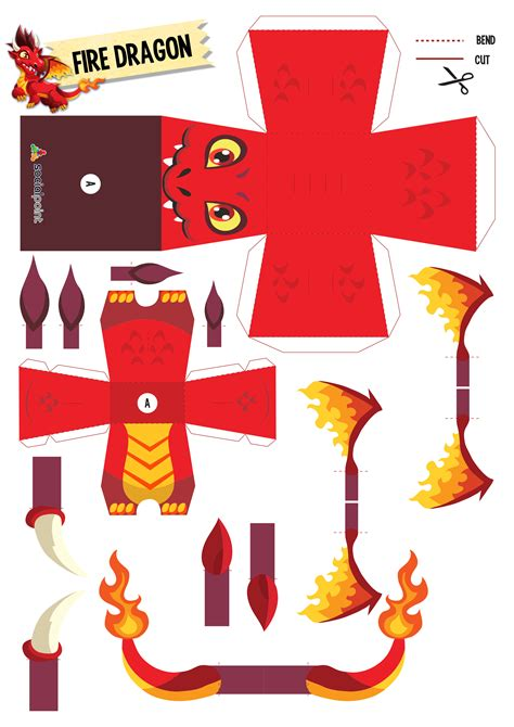 Make Paper Toys - paper toy firedragon diy paper toys