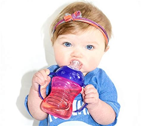 Nuby 360 Grip N Sip 2 In 1 Combo Spout Straw Sippy Cup 240ml 57 nuby 2 pack no spill spout grip n sip cup and blue import it all