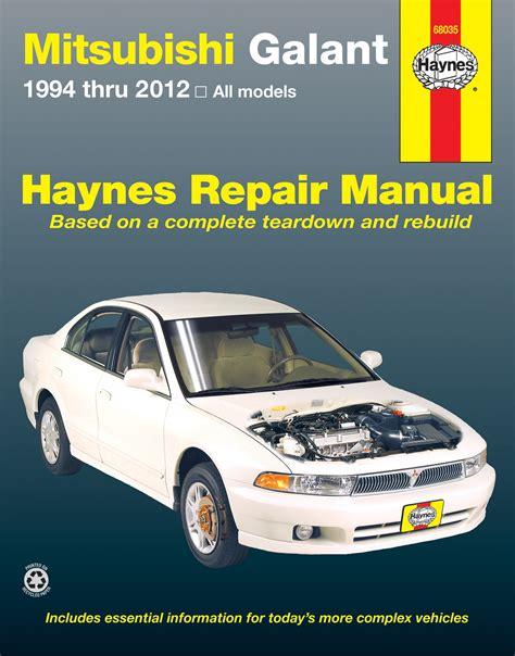 mitsubishi galant 1994 2012 haynes repair manual usa haynes manuals