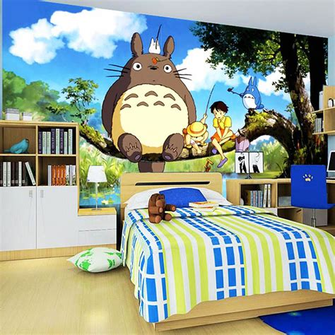 Totoro Bedroom Decor by Popular Totoro Wallpaper Buy Cheap Totoro Wallpaper Lots