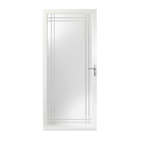 door 3000 series with low e glass andersen 36 in x 80 in 3000 series white right
