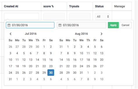 format date yii2 how to add a date range picker to filter for dates on a