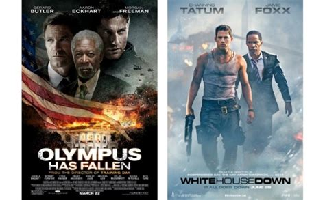white house down vs olympus has fallen 14 times similar movies went head to head at the box office den of geek