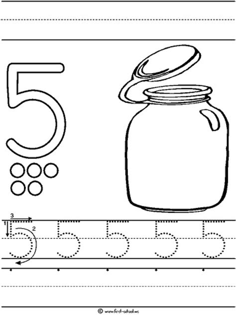 preschool coloring pages number 5 number 5 five tracing and coloring worksheets crafts