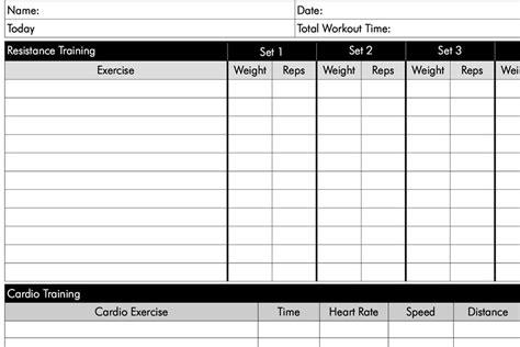 free weight lifting charts