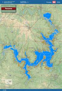 texoma map lake texoma map oklahoma