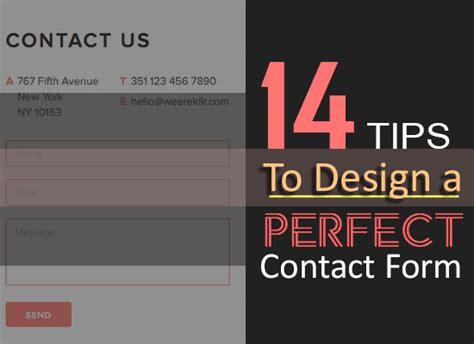 14 Tips On Hosting A by 14 Tips To Design A Contact Form