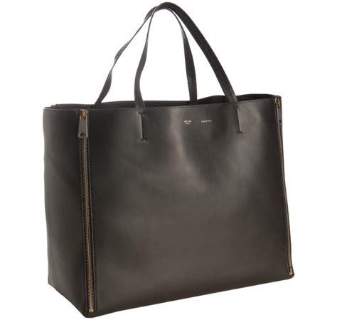 Chain Tote Bags Intl black leather handbag gourmette bag cheap
