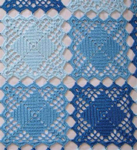 pattern crochet squares blue lace crochet squares bedspread crochet kingdom