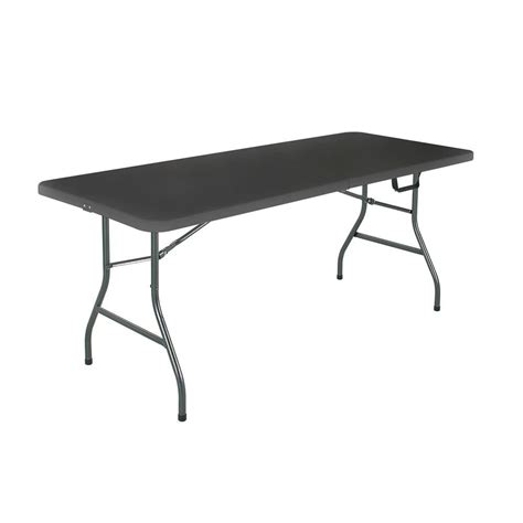 Lifetime 6ft Folding Table Lifetime 6 Ft Almond Folding Utility Table 22900 The Home Depot