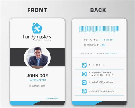 Best Identity Card Design top entries business card and id card design freelancer