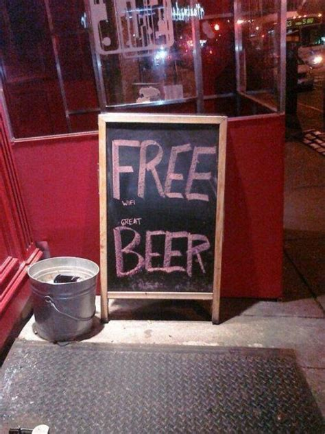 funny  creative bar signs thatll   step   grab  drink