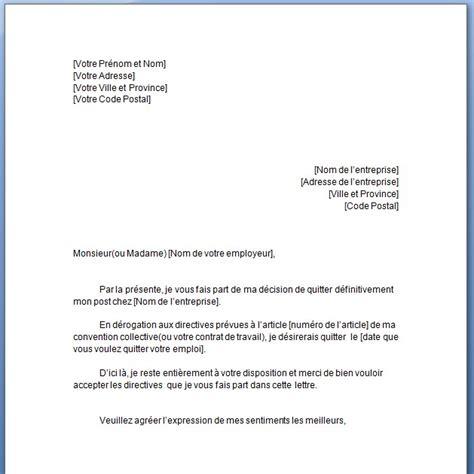 Exemple Lettre De Démission Réduction Préavis Exemple De Lettre De Demission En Francais Covering Letter Exle