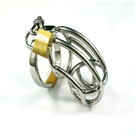 cage chastity rings stainless steel male chastity device cock cage virginity
