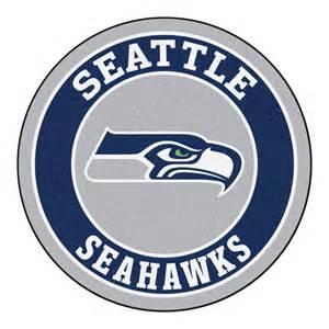 Area Rugs Houston Fanmats Nfl Seattle Seahawks Navy 2 Ft 3 In X 2 Ft 3 In