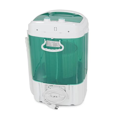 Portable Spin Dry Cycle Washing Machine W Basket Dorm Portable Laundry