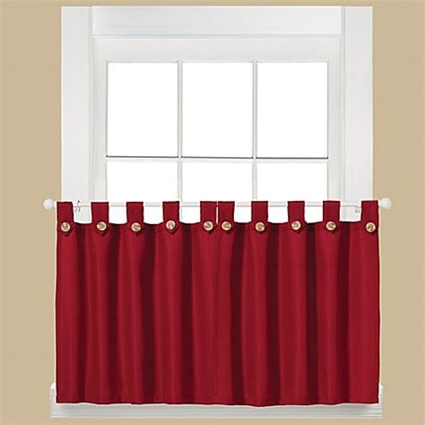 Buy Westlake 36 Inch Window Curtain Tier Pair In Red From
