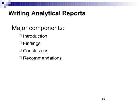 types of business reports writing