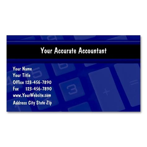 accounting business card templates 1000 images about accountant business cards on