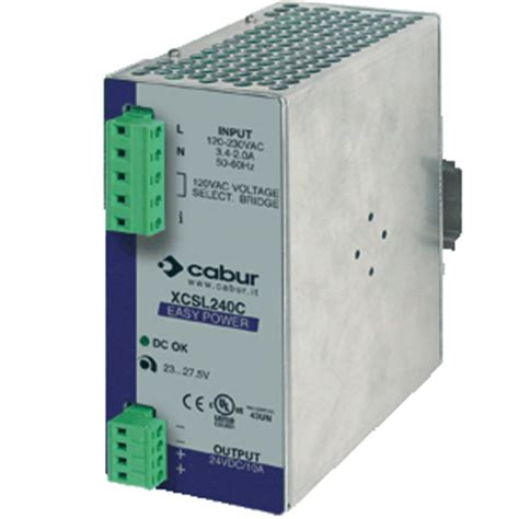 selv power supply power supply din rail single phase 24 vdc xcsl240c