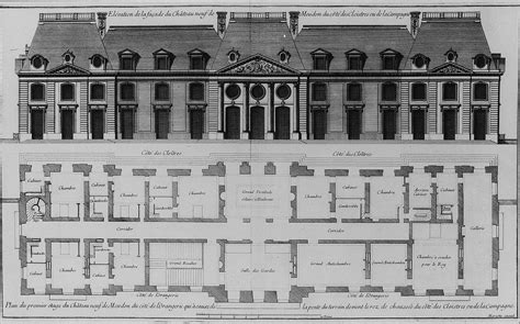 Highclere Castle Floor Plan by File Elevation Of Courtyard Facade And Plan Of First Floor