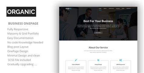 one page parallax html template organic one page parallax html template nulled