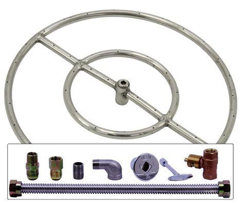 terrassenfeuer gas selber bauen runde erdgas feuerstelle brenner ring kit feuerstelle