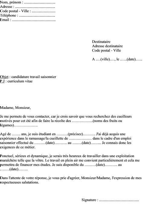 Lettre De Motivation Visa Travail lettre de motivation gallery cv letter and format sle letter