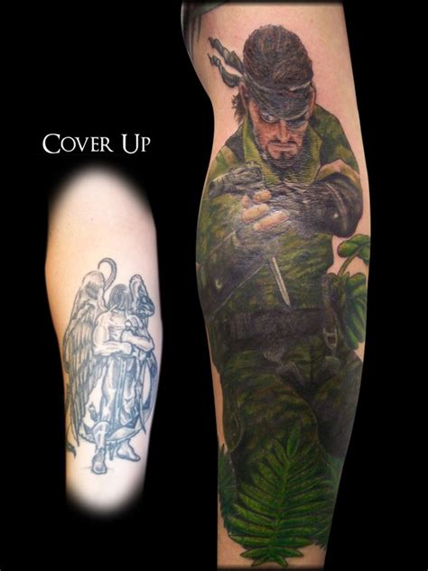 metal gear tattoo metal gear solid snake cover up tattoos