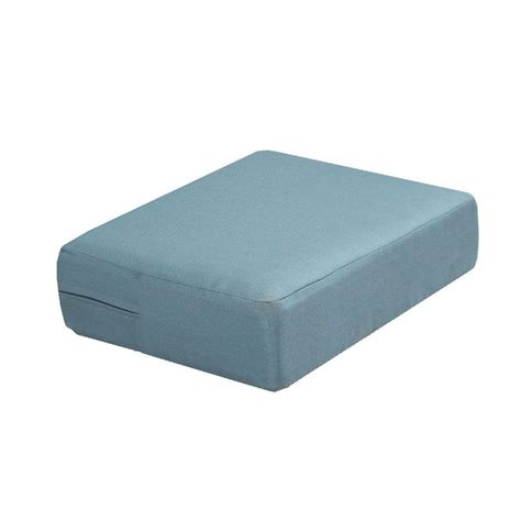 hampton bay washed blue replacement cushion   martha