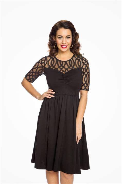 black lace swing dress black lace swing dress 1950s prom