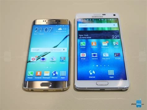 samsung galaxy s6 edge vs galaxy note 4 look phonearena reviews