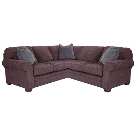 Broyhill Furniture Zachary Sectional Sofa With Raf Corner Broyhill Zachary Sofa