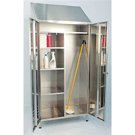 Broom Storage Cabinet Stainless Steel Broom And Janitorial Cabinets By J K Ss Ltd