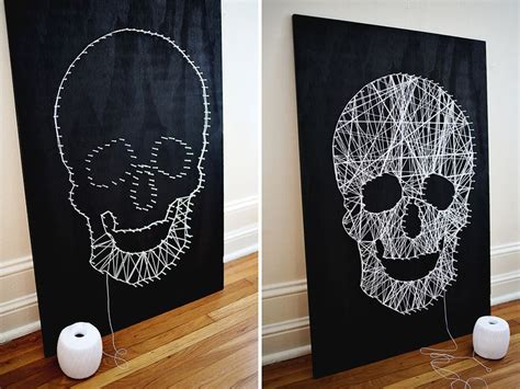 String Arts - make your own skull string a beautiful mess