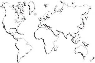 Blank Outline Map Of The World Printable by Free Printable World Maps Outline World Map