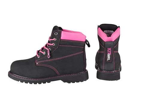 Boots Safety Shoes Kode Sc09 s safety work boots black pink work kit