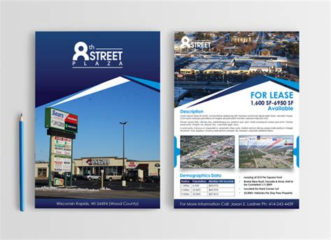 3 Page Flyer To Showcase Market A Commercial Property By Jladner197 Commercial Property Brochure Template