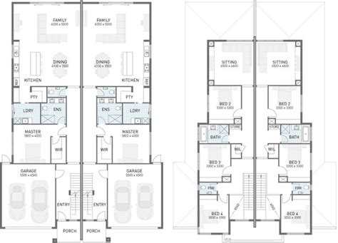 dual occupancy house plans 25 b 228 sta duplex floor plans id 233 erna p 229 pinterest