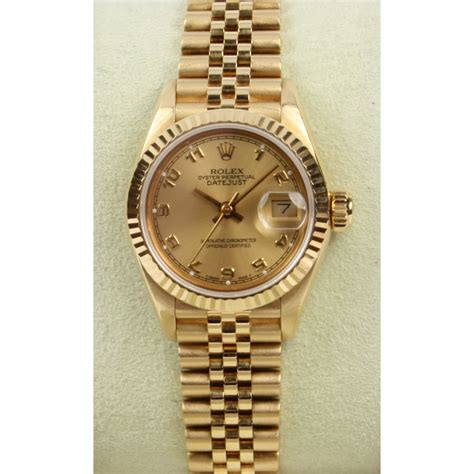 golden rolex pre owned rolex 18ct yellow gold datejust market