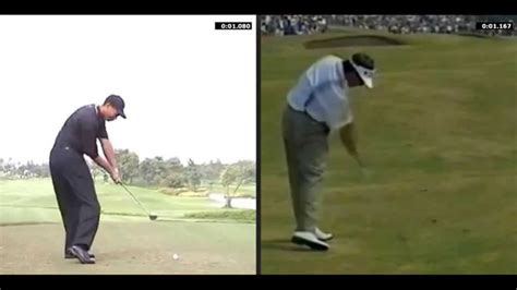 tiger woods old swing tiger woods current swing vs old swing part 3 youtube